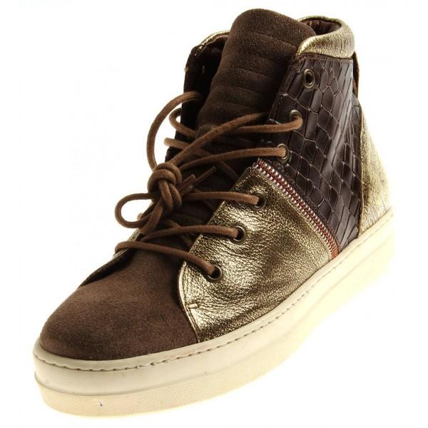 Nobrand High Top Sneaker aus Leder