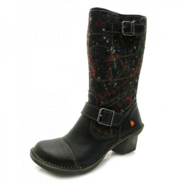 Art - Stiefelette - 0617 Fieltro Black