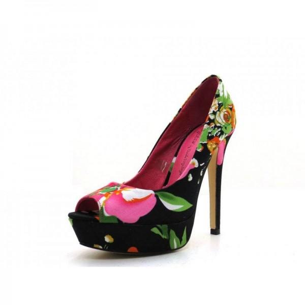 Ladystar by Daniela Katzenberger - High Heels Peeptoe - 5137 Bunt