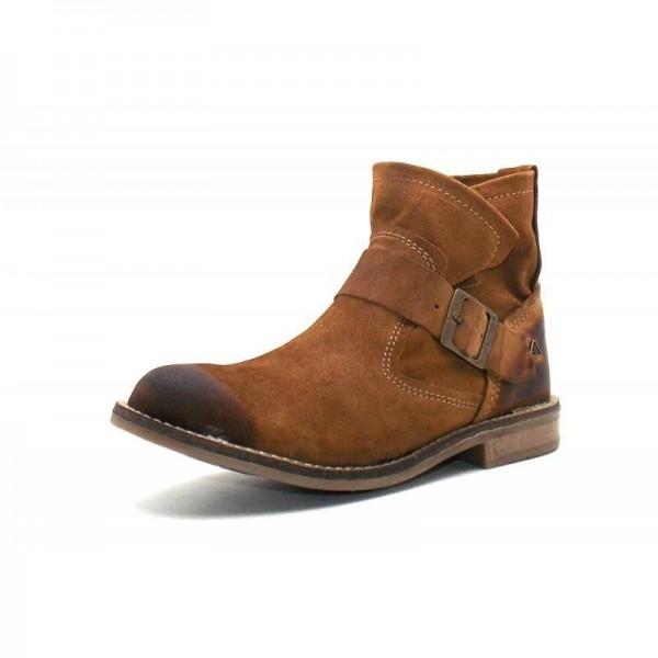 Nice Feet - Stiefelette - 1112-027 Wildleder Cognac