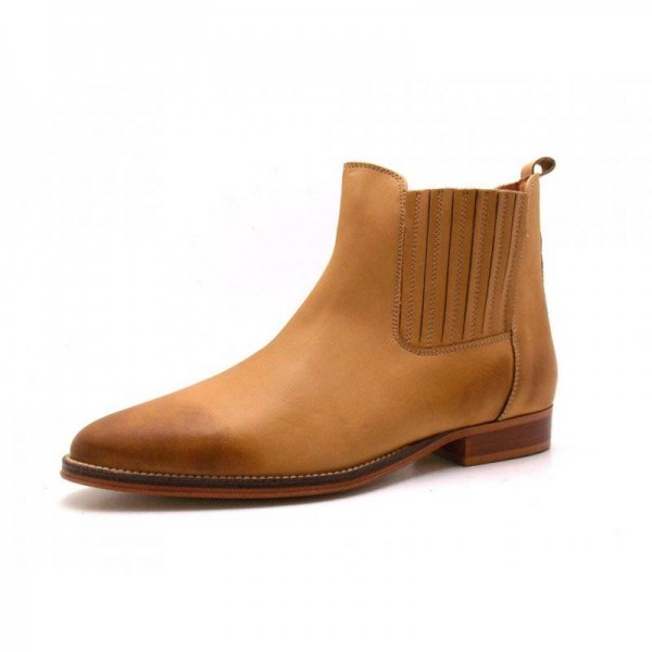 Office - Stiefelette - Chelsea Boot -  45-008 - Tan
