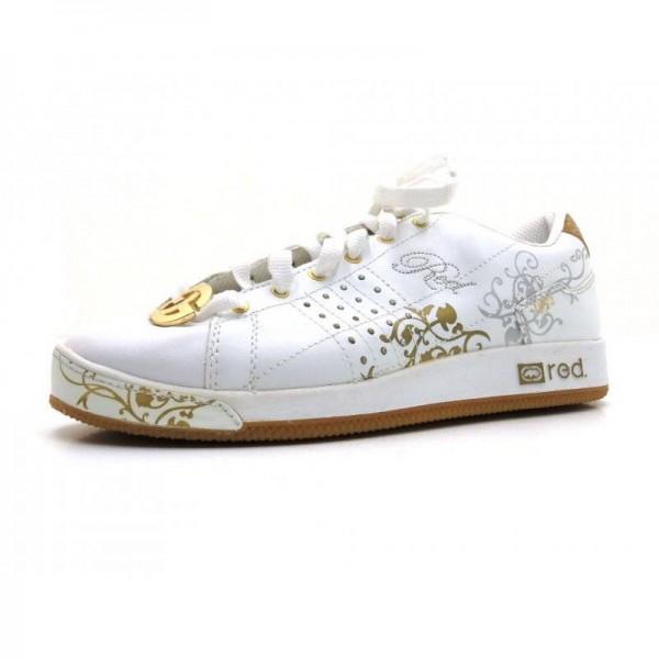 Red - Sneaker - 3284 Weiß-Silber