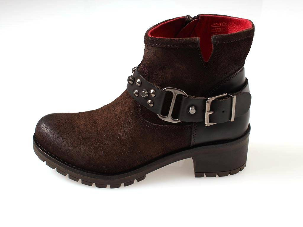 Buffalo robuste Bikerstiefelette Leder 30612 Boot Damen Schuhe Boots 30612 Leder 9d63b5