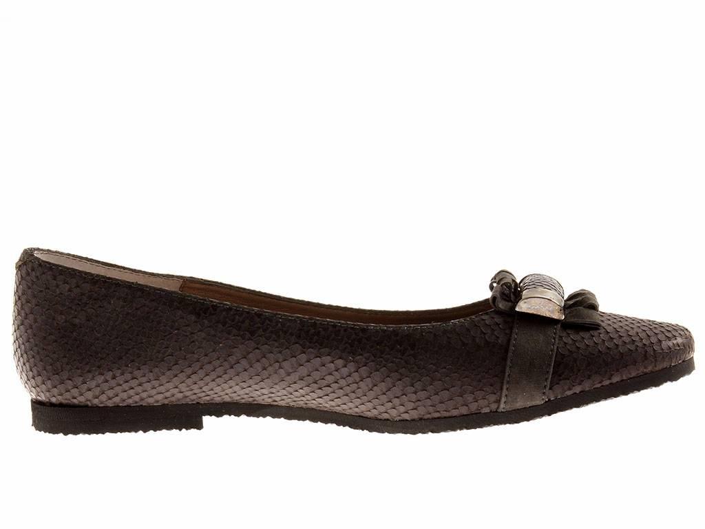 Charisma Leder 1088 Damen Ballerinas Lederballerinas Leder Charisma Schuhe Slipper grau f7c881