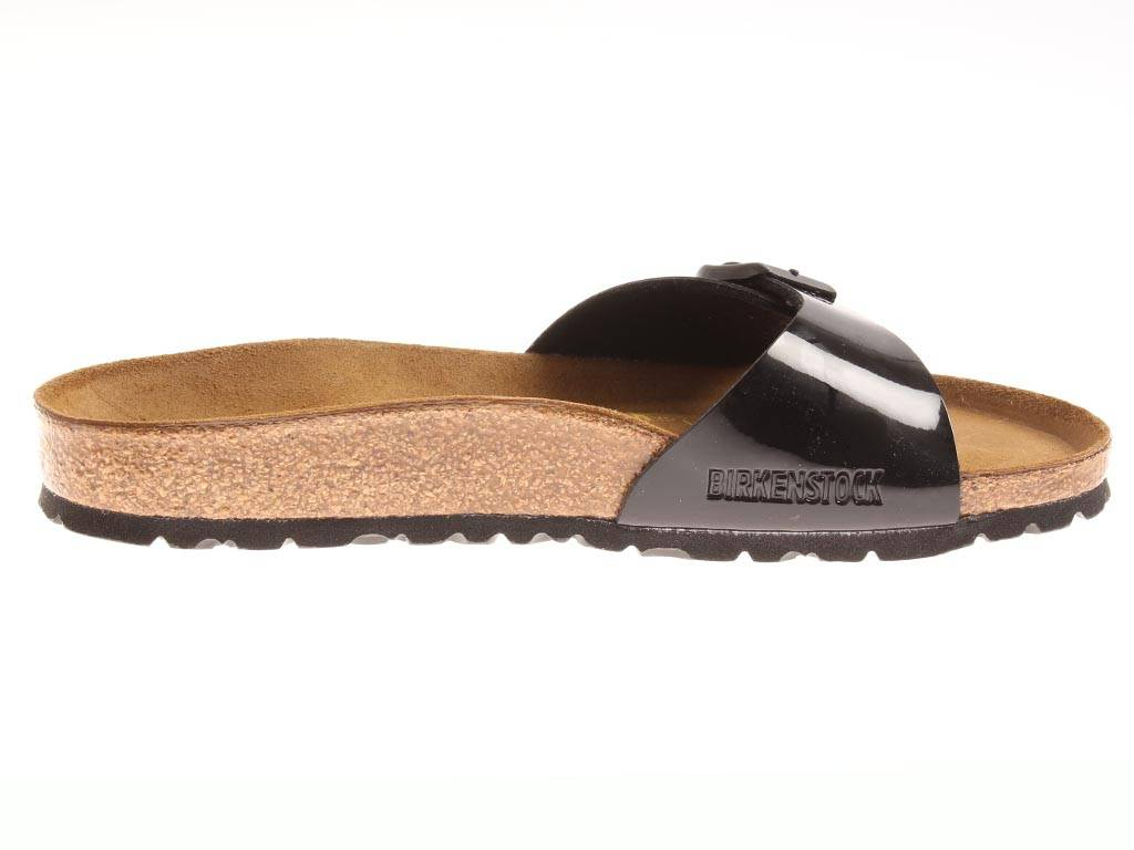 Leather Narrow Mules Birkenstock Madrid Classic Cork Normal