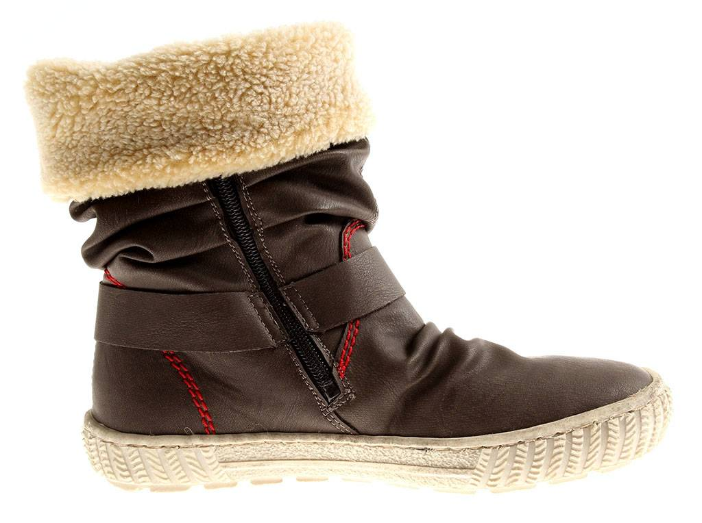 Details zu Rieker Damen Stiefel Winterbooty Boots Damenschuhe Wolle Y7782 braun